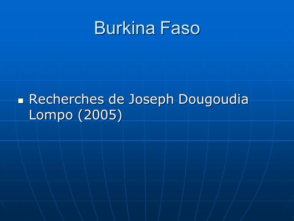 Burkina Faso Recherches de Joseph Dougoudia Lompo (2005)