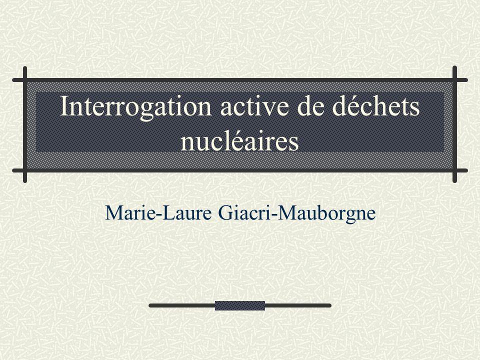 Interrogation active de déchets nucléaires