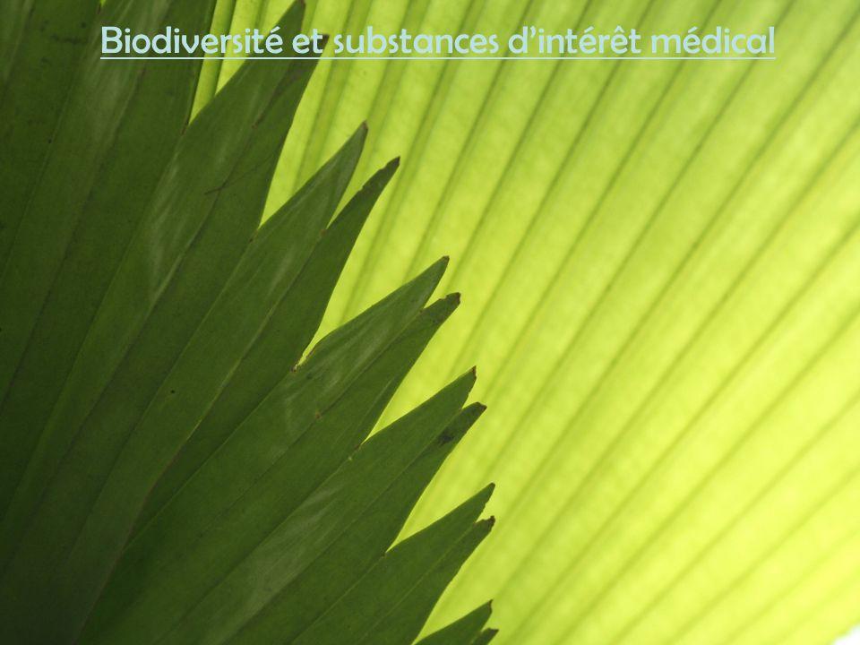 Biodiversité et substances d'intérêt médical