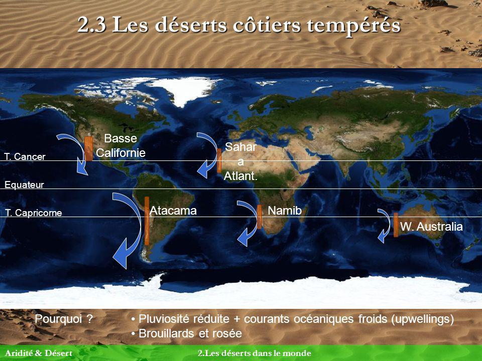 2.3 Les déserts côtiers tempérés