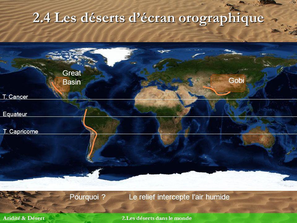 2.4 Les déserts d'écran orographique