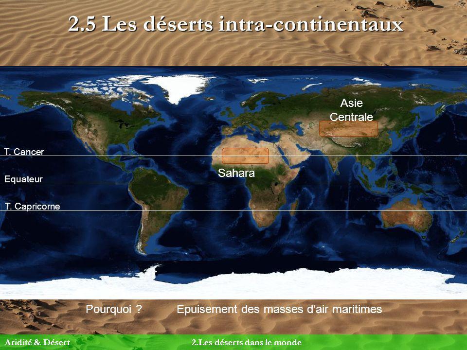 2.5 Les déserts intra-continentaux