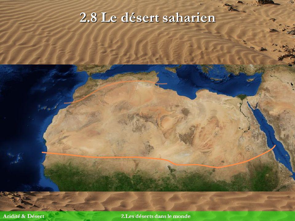 2.8 Le désert saharien Aridité & Désert 2.Les déserts dans le monde