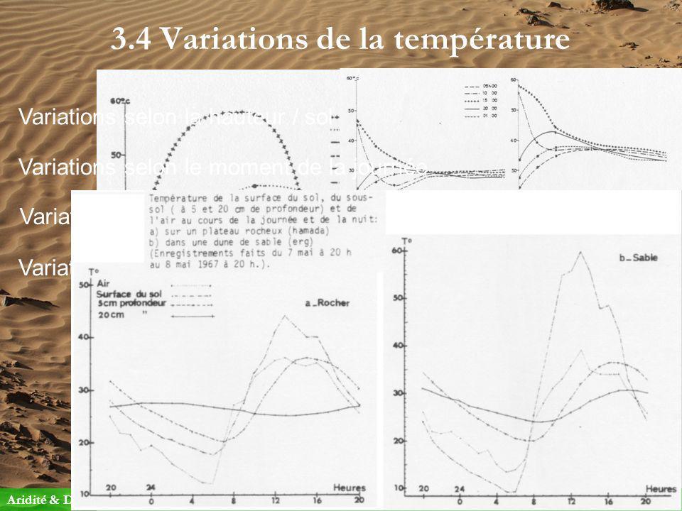3.4 Variations de la température