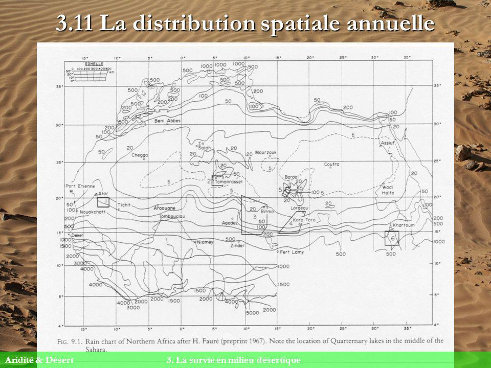 3.11 La distribution spatiale annuelle