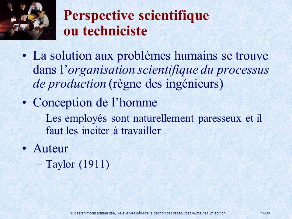Perspective scientifique ou techniciste