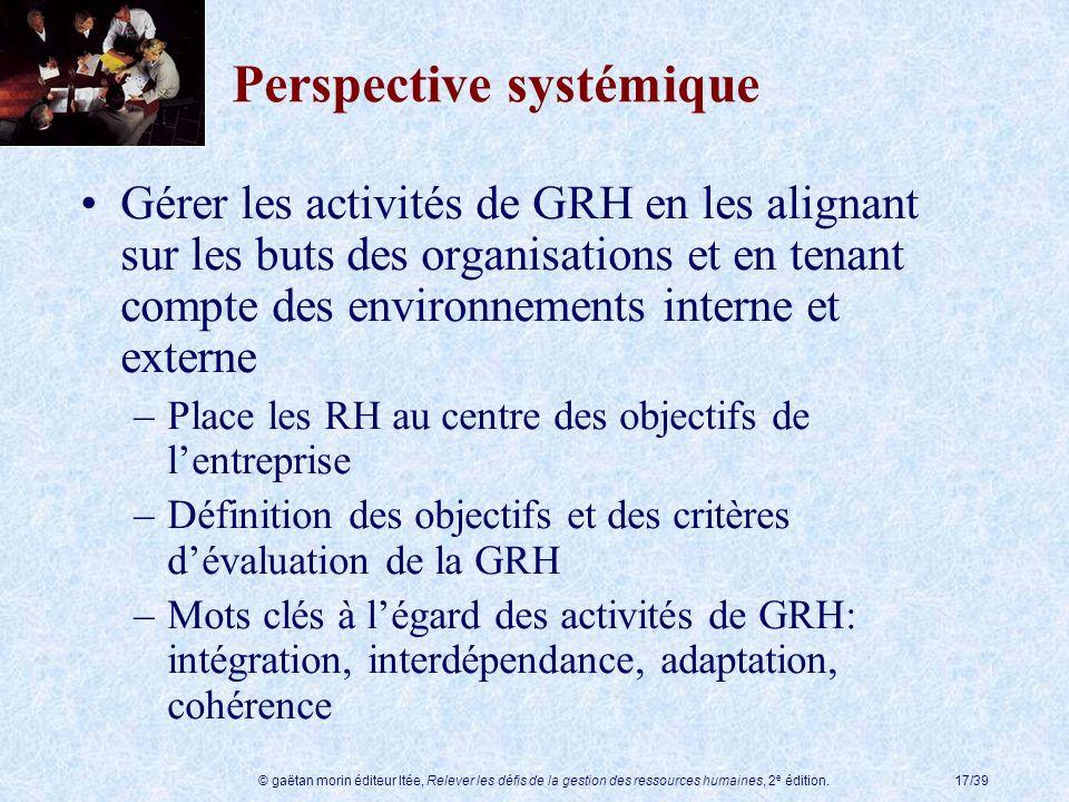 Perspective systémique