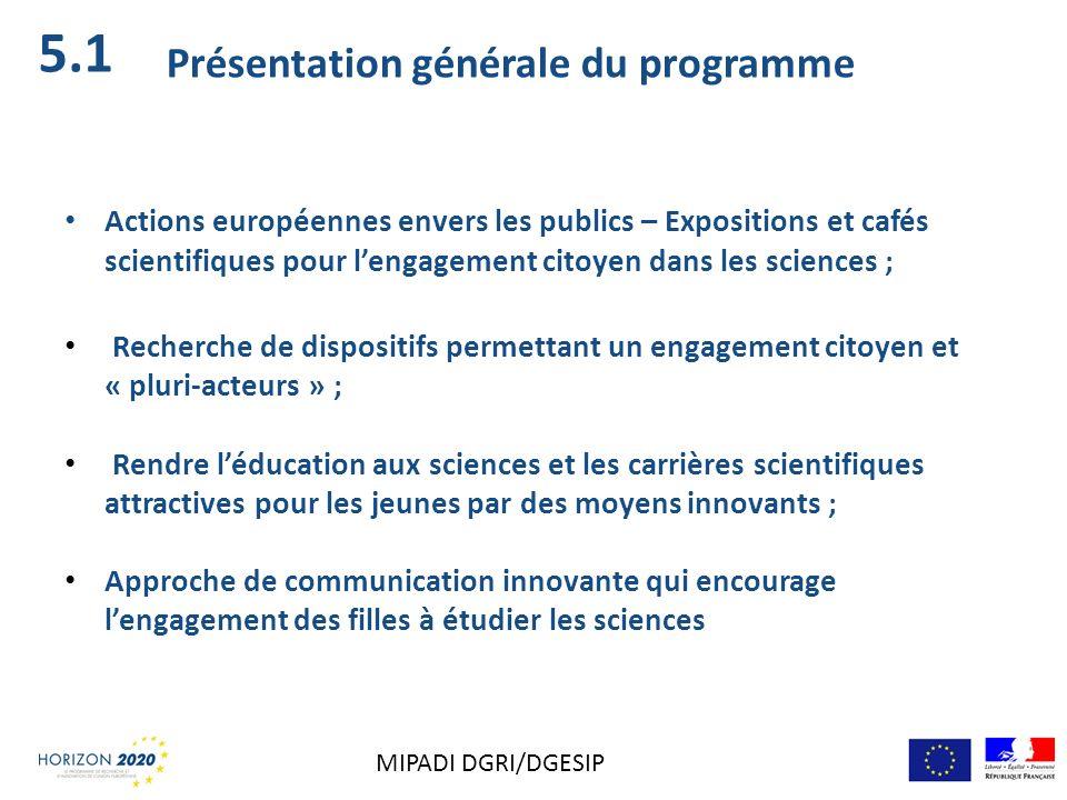 5.1 Présentation générale du programme
