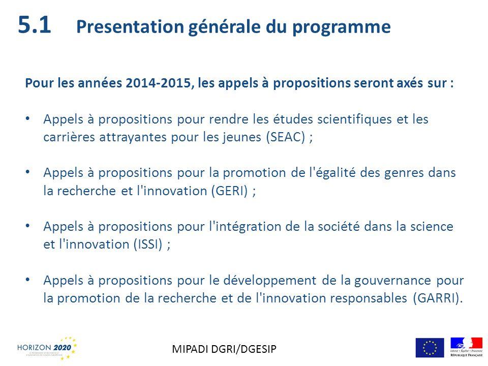 5.1 Presentation générale du programme