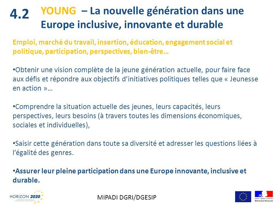 4.2 YOUNG – La nouvelle génération dans une Europe inclusive, innovante et durable.