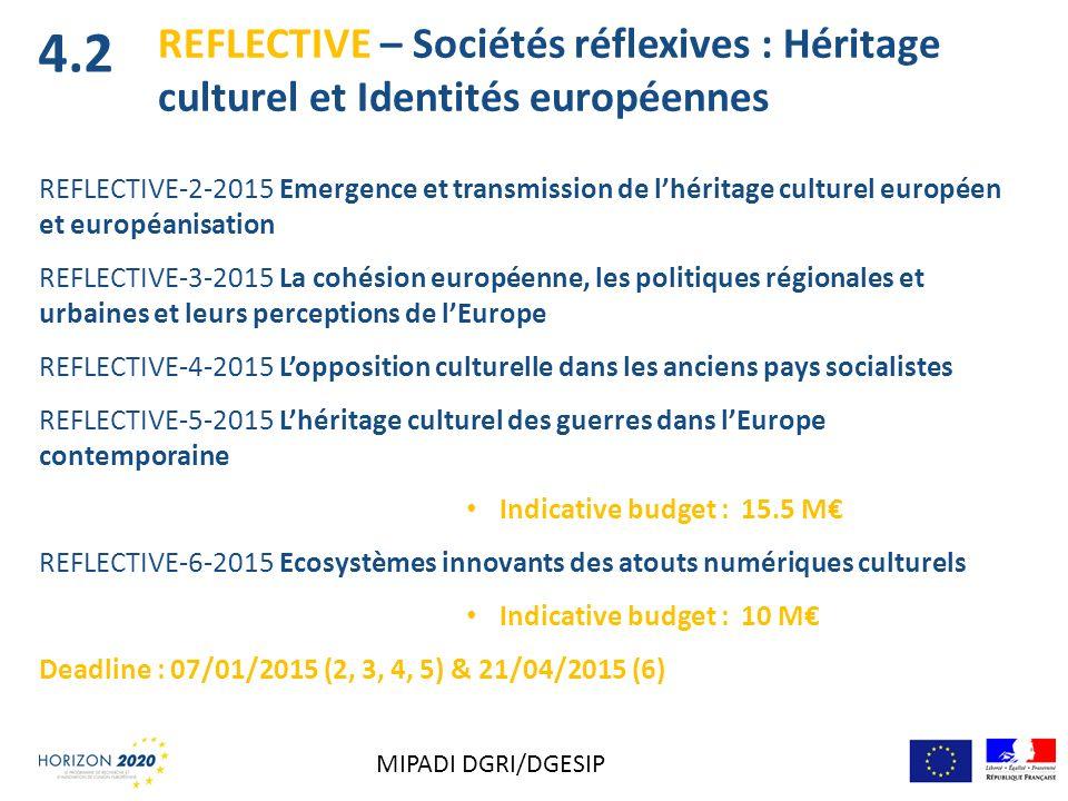 4.2 REFLECTIVE – Sociétés réflexives : Héritage culturel et Identités européennes.
