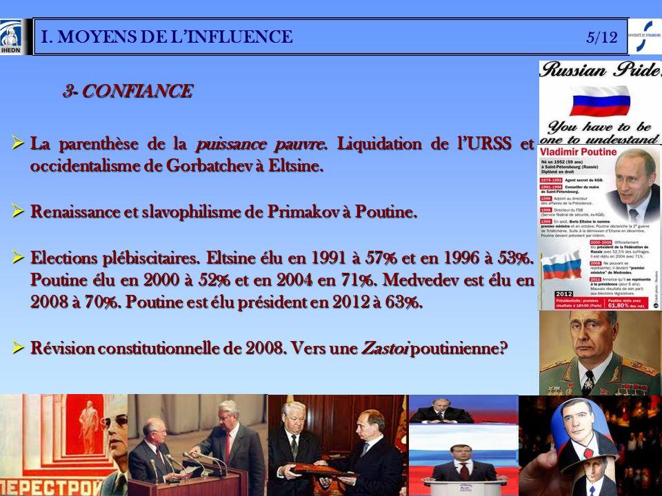 I. MOYENS DE L'INFLUENCE 5/12