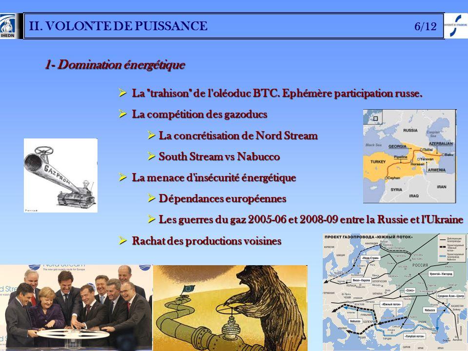 II. VOLONTE DE PUISSANCE 6/12