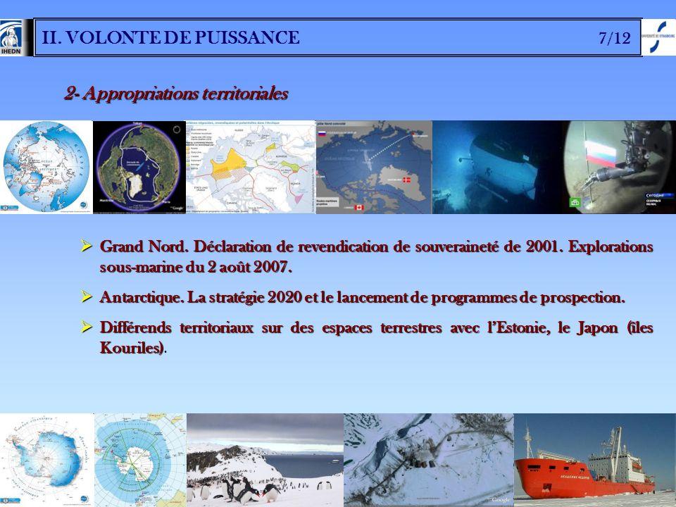 II. VOLONTE DE PUISSANCE 7/12