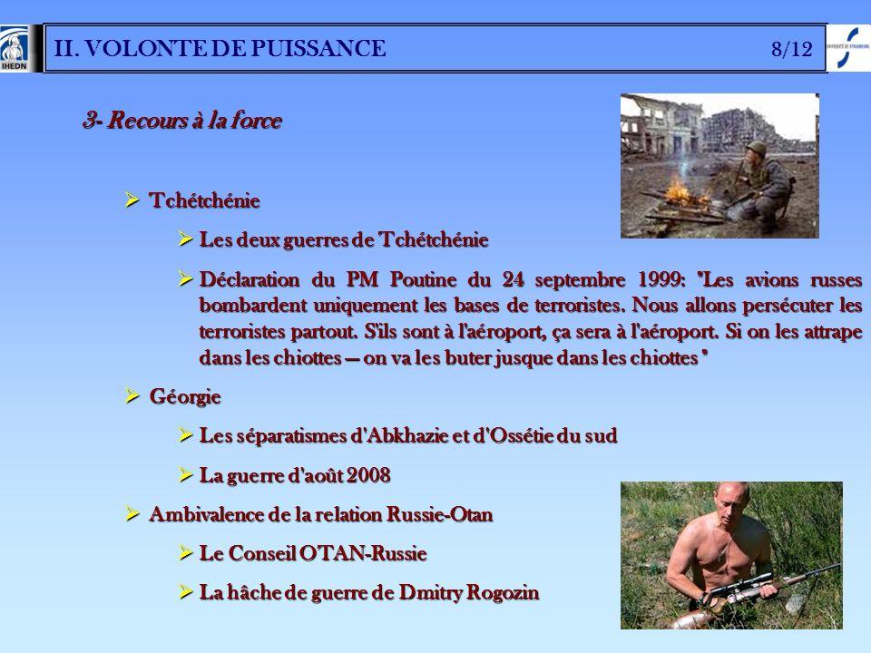 II. VOLONTE DE PUISSANCE 8/12