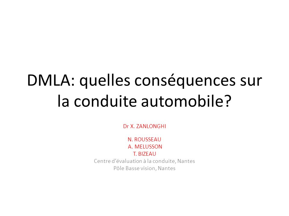 DMLA: quelles conséquences sur la conduite automobile