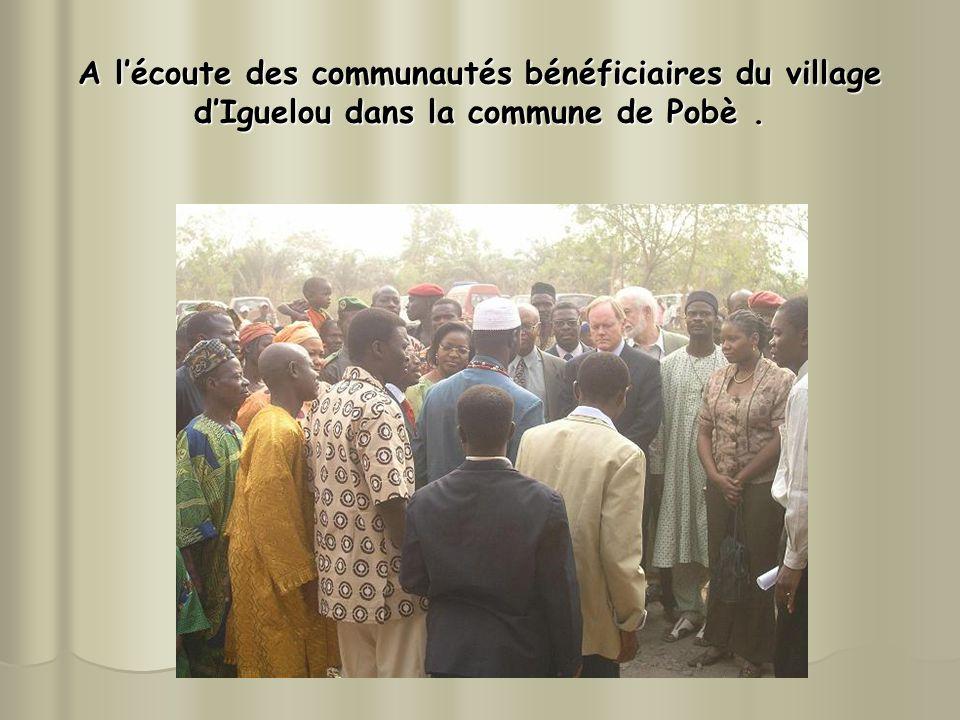 A l'écoute des communautés bénéficiaires du village d'Iguelou dans la commune de Pobè .