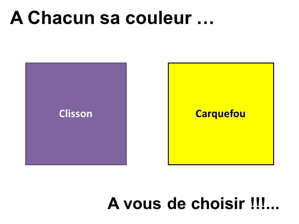 A Chacun sa couleur … Clisson Carquefou A vous de choisir !!!...
