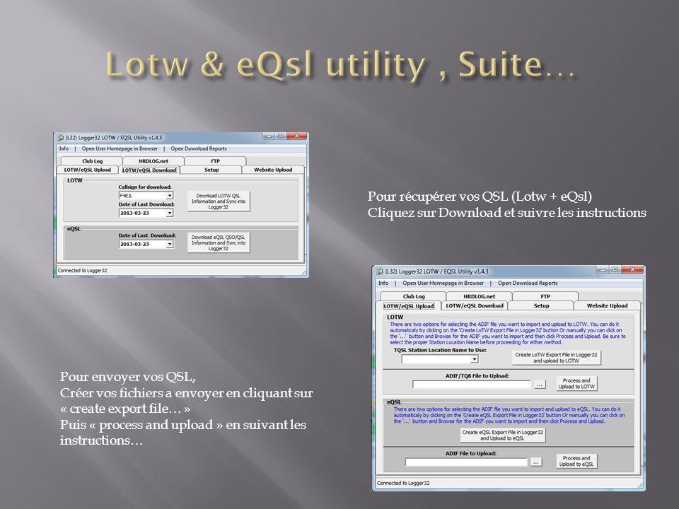 Lotw & eQsl utility , Suite…
