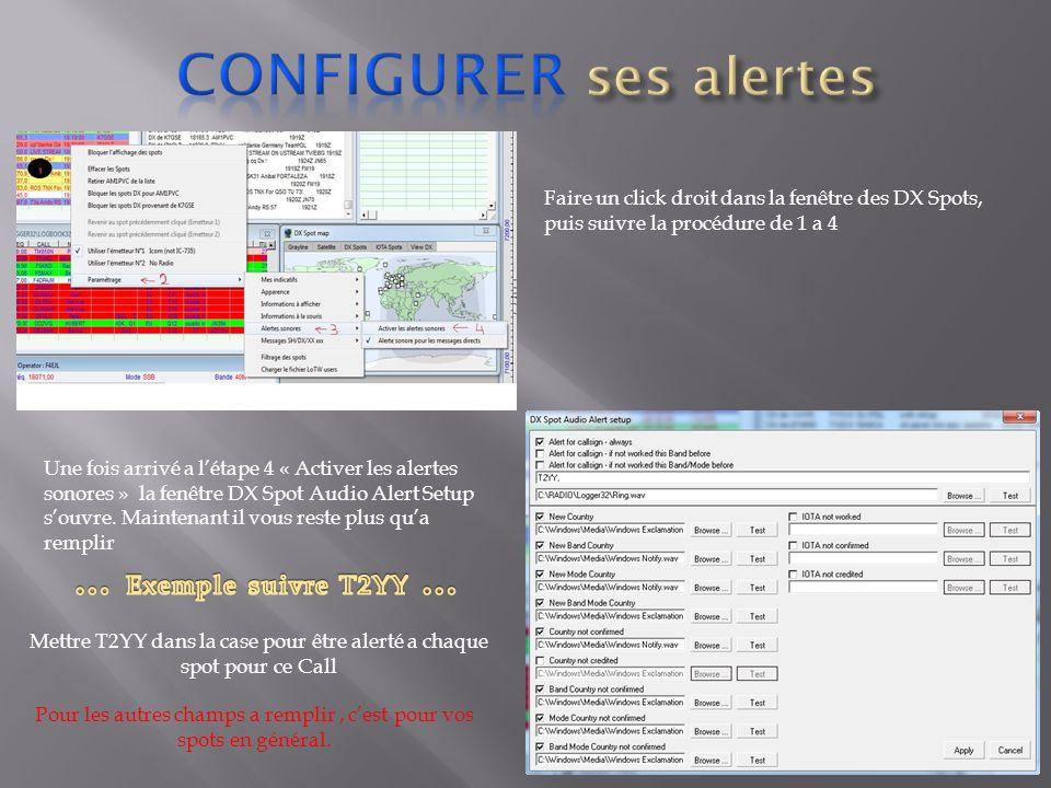 Configurer ses alertes