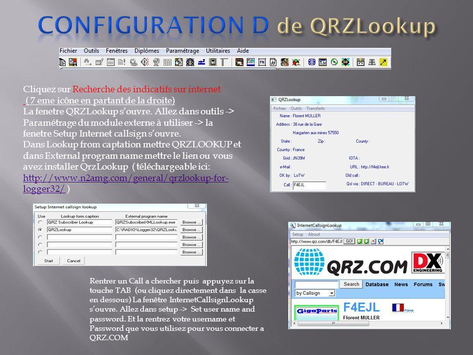 Configuration d de QRZLookup