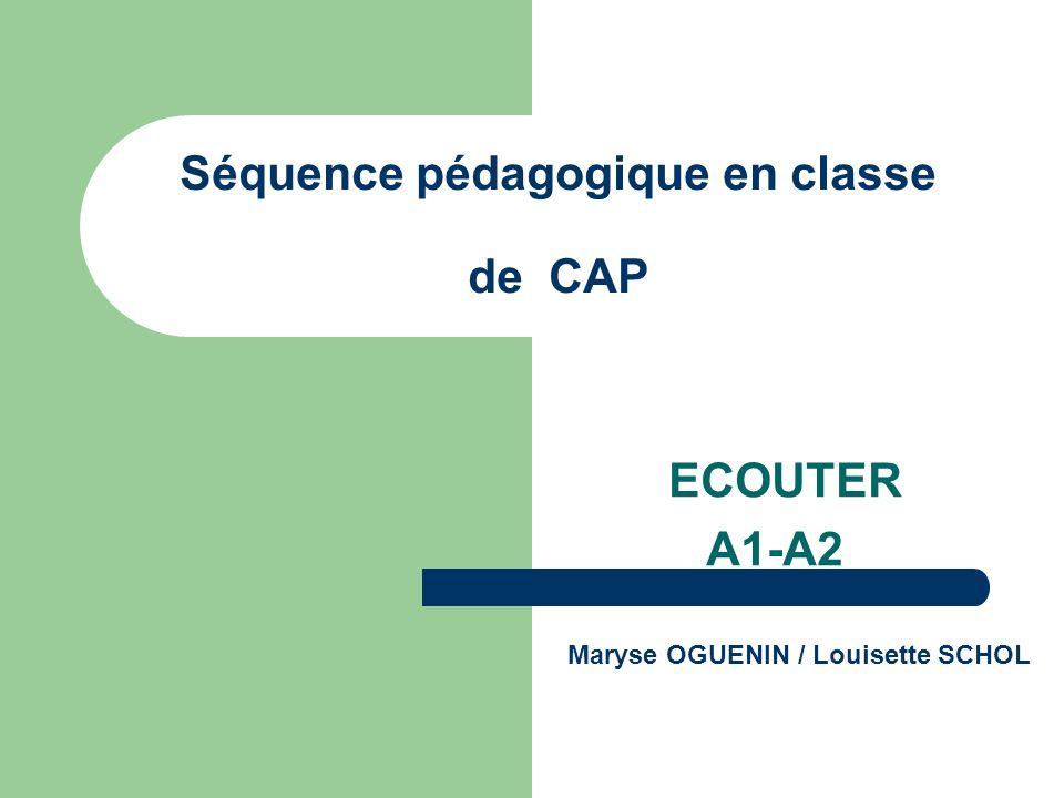 Séquence pédagogique en classe de CAP