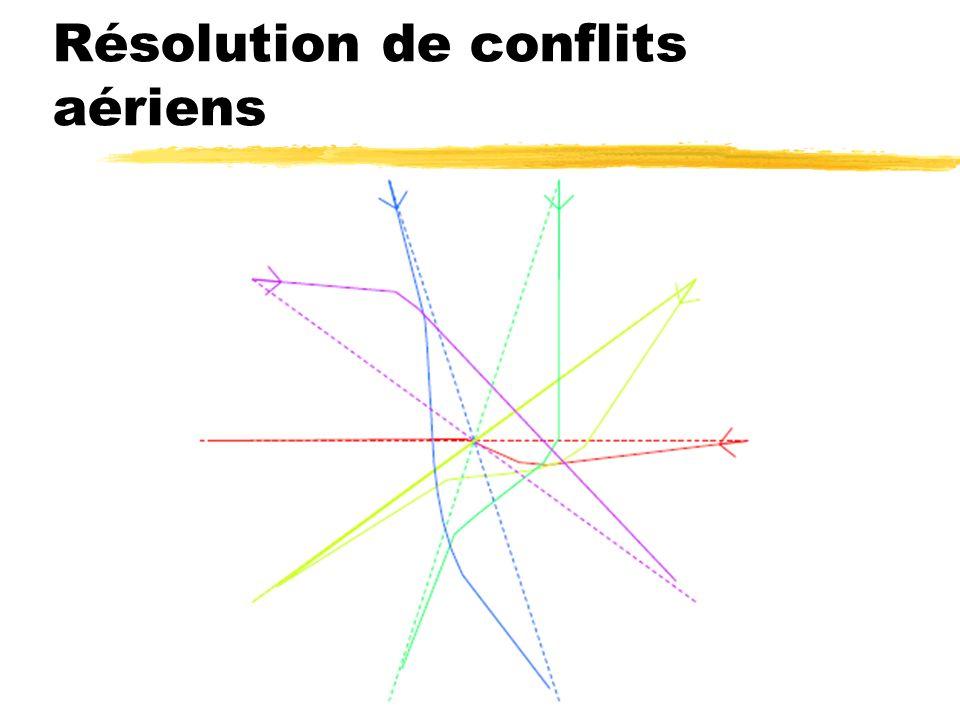 Résolution de conflits aériens
