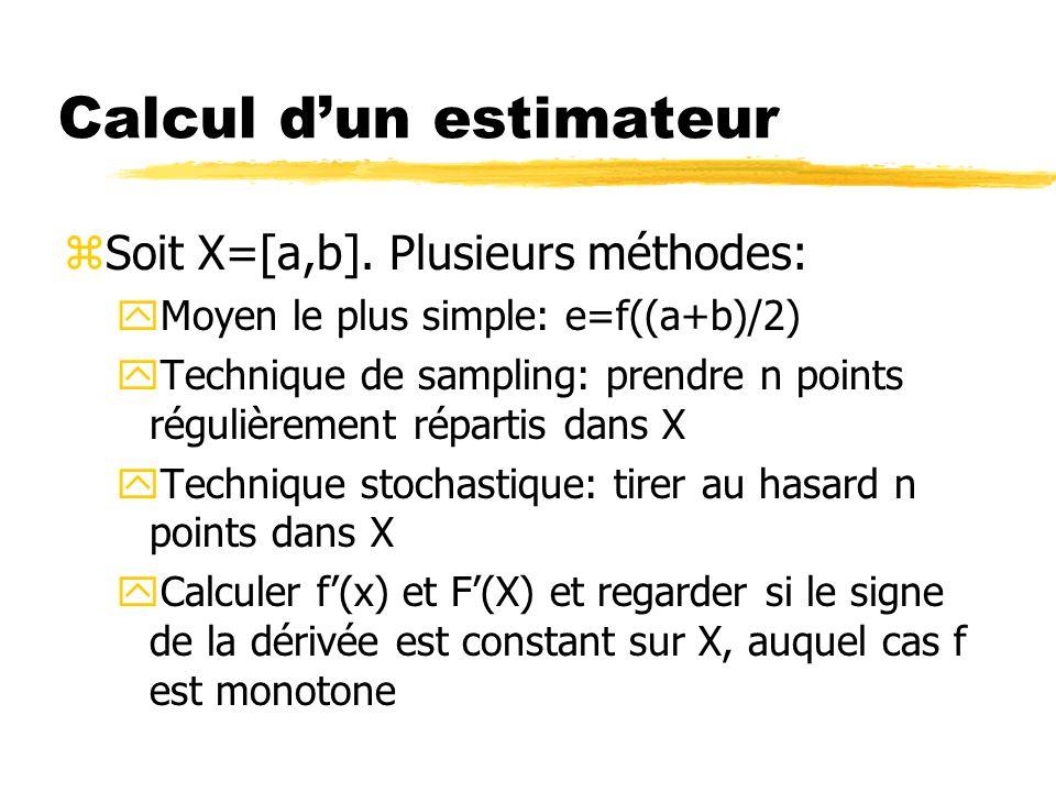 Calcul d'un estimateur