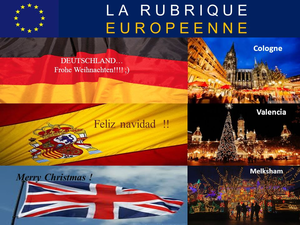 LA RUBRIQUE EUROPEENNE