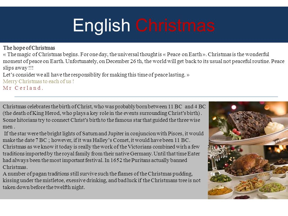 English Christmas The hope of Christmas