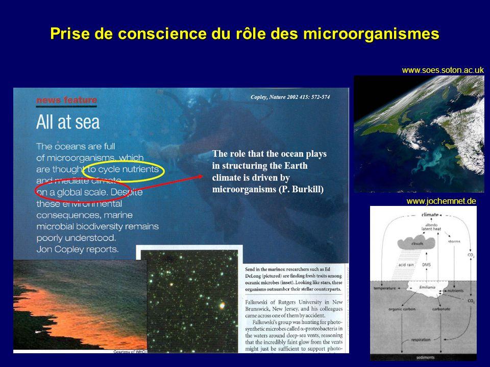 Prise de conscience du rôle des microorganismes