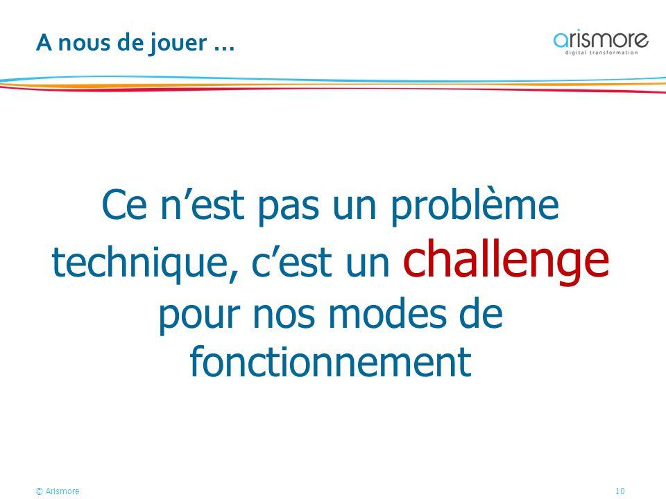 A nous de jouer … Ce n'est pas un problème technique, c'est un challenge pour nos modes de fonctionnement.