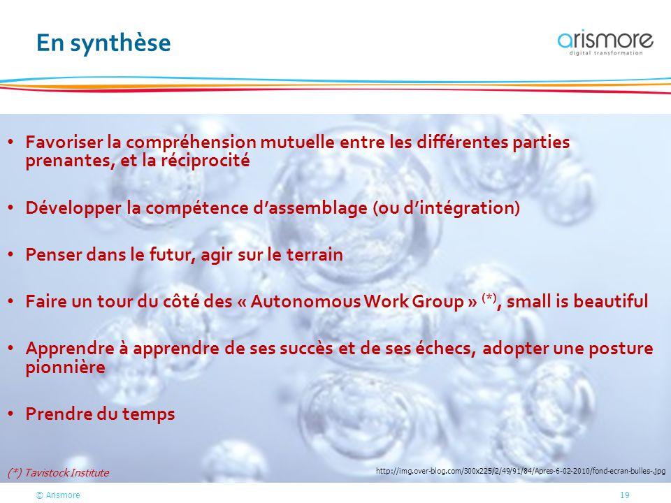 En synthèse Favoriser la compréhension mutuelle entre les différentes parties prenantes, et la réciprocité.