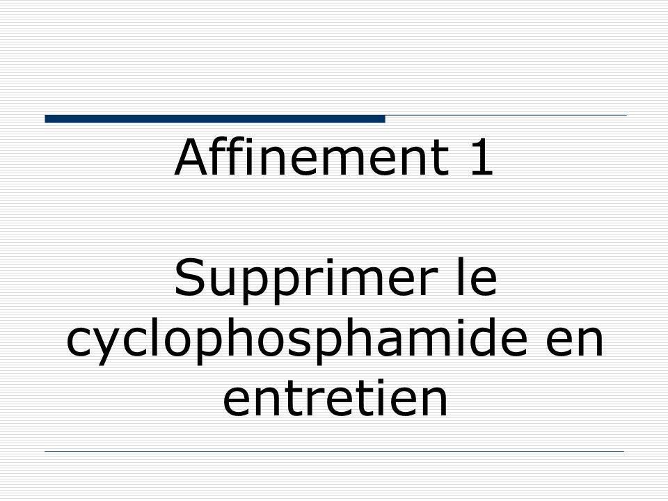 Affinement 1 Supprimer le cyclophosphamide en entretien