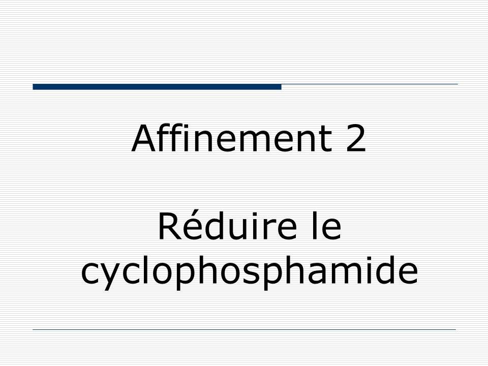 Affinement 2 Réduire le cyclophosphamide