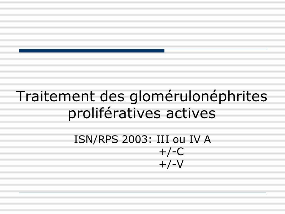 Traitement des glomérulonéphrites prolifératives actives