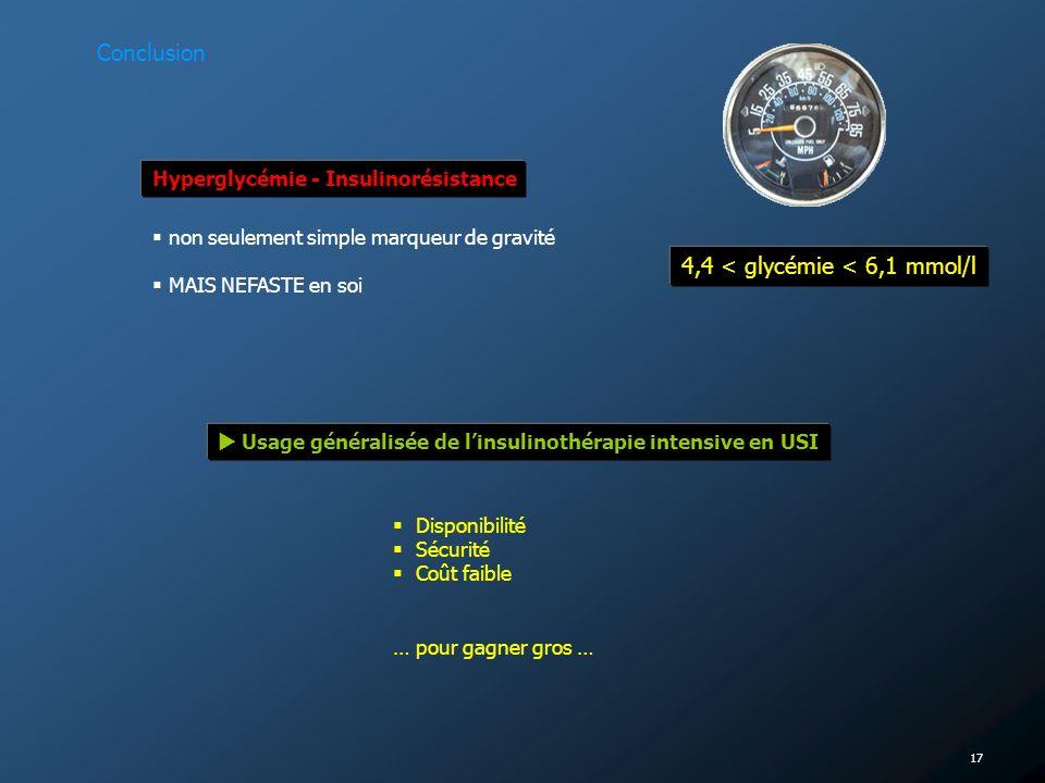 4,4 < glycémie < 6,1 mmol/l