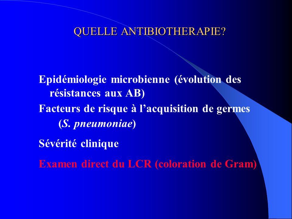 QUELLE ANTIBIOTHERAPIE