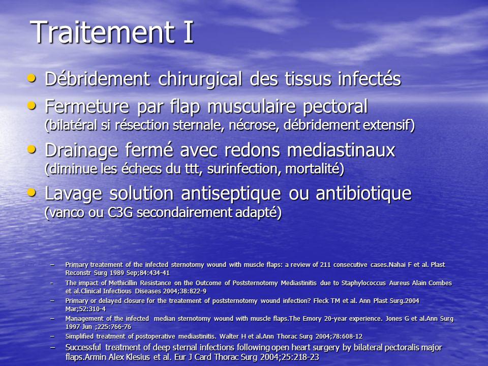 Traitement I Débridement chirurgical des tissus infectés