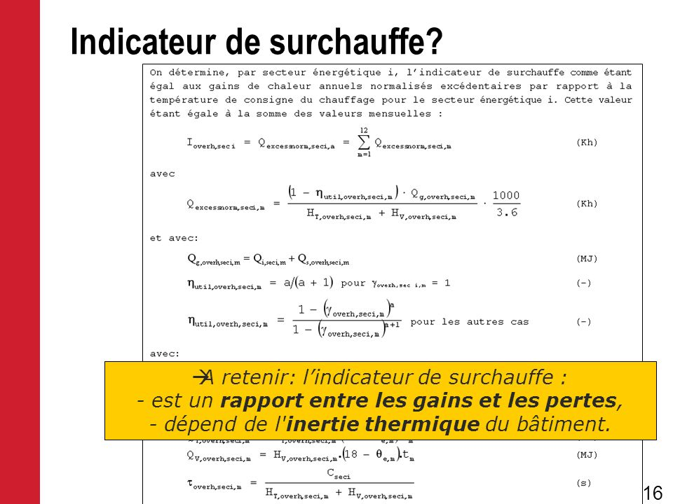Indicateur de surchauffe
