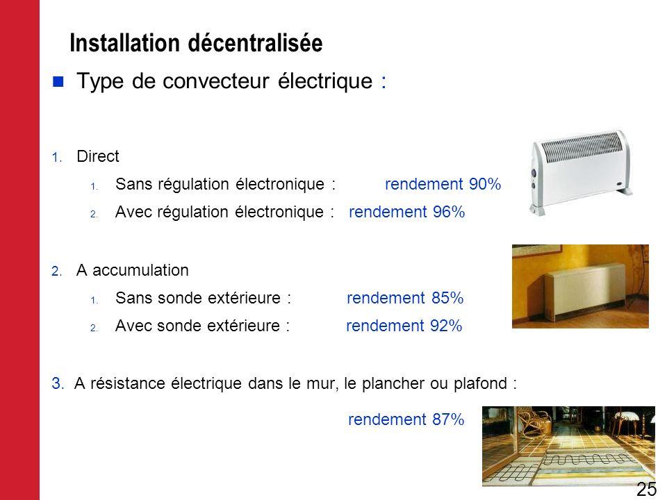 Installation décentralisée