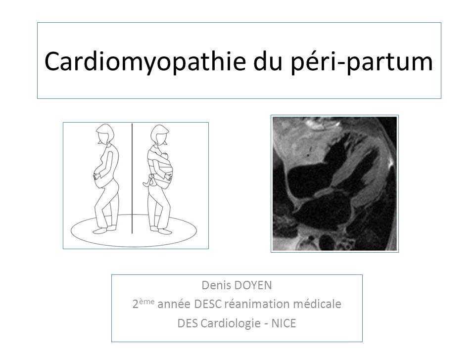 Cardiomyopathie du péri-partum