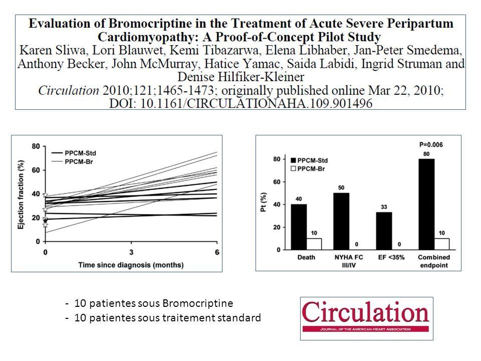 Essai Bromocriptine - 10 patientes sous Bromocriptine