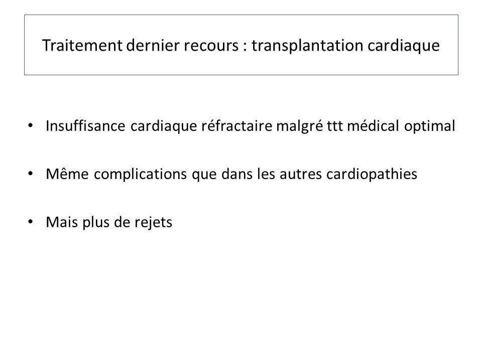 Traitement dernier recours : transplantation cardiaque