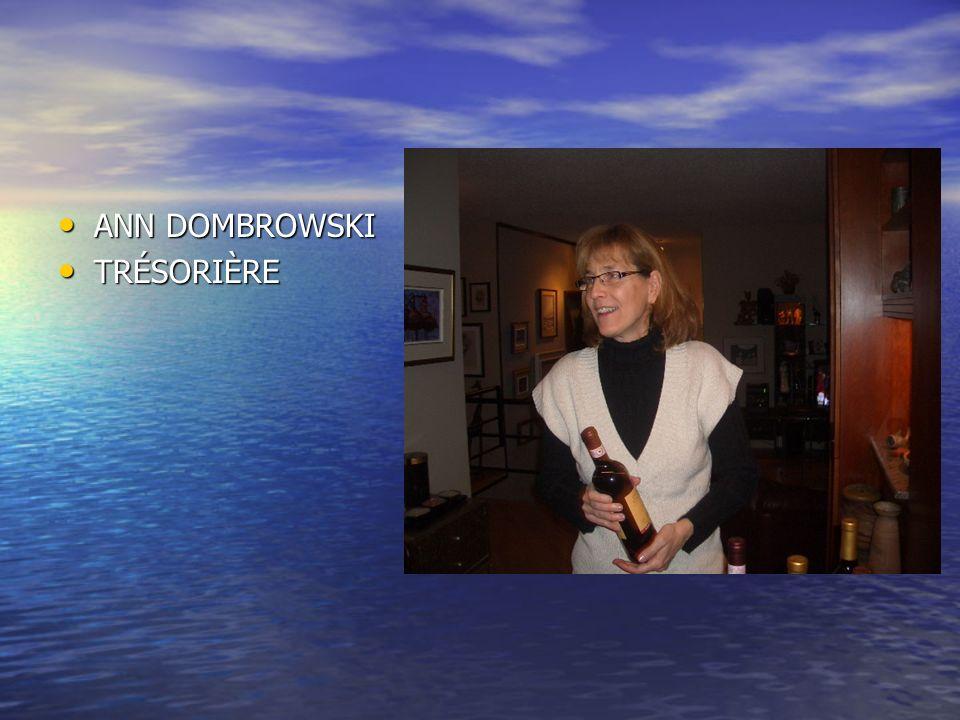 ANN DOMBROWSKI TRÉSORIÈRE