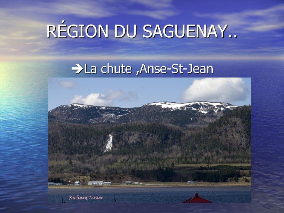 La chute ,Anse-St-Jean