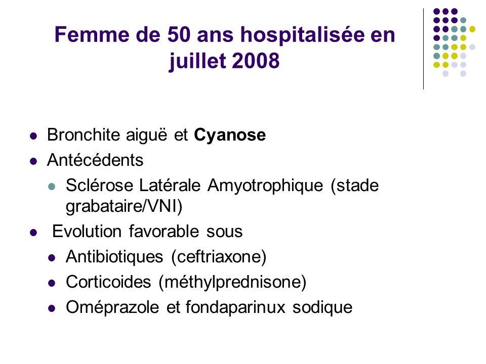 Femme de 50 ans hospitalisée en juillet 2008