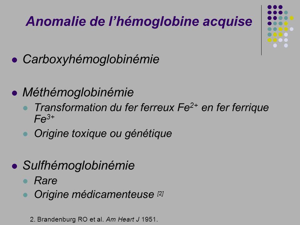 Anomalie de l'hémoglobine acquise
