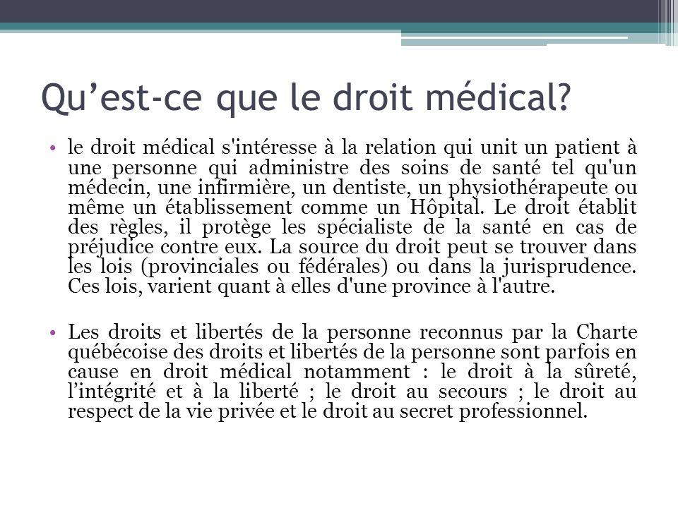 Qu'est-ce que le droit médical