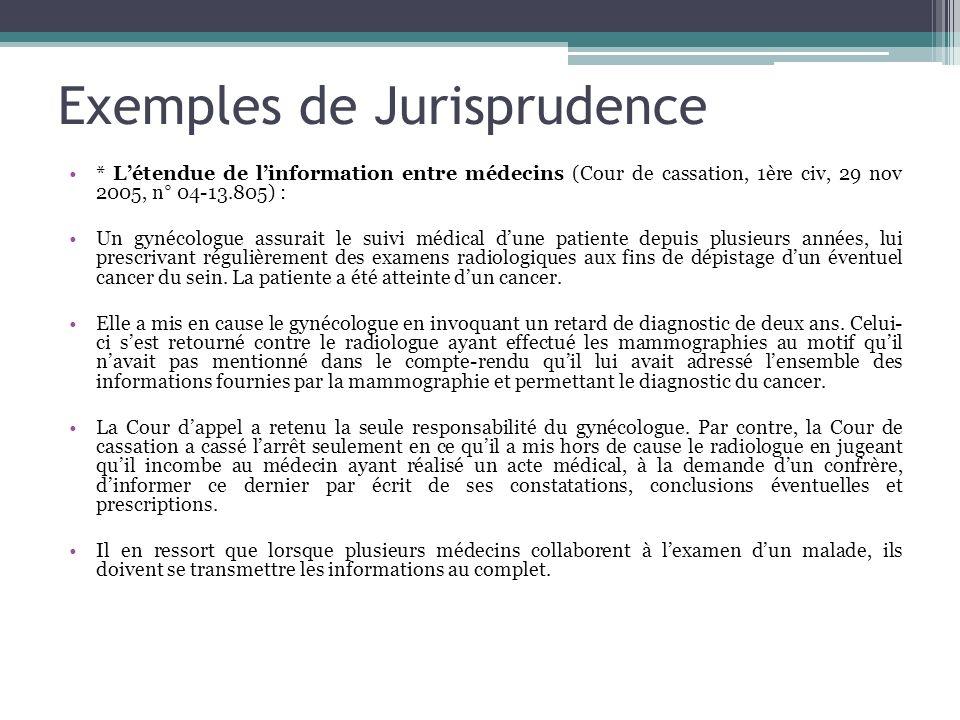 Exemples de Jurisprudence